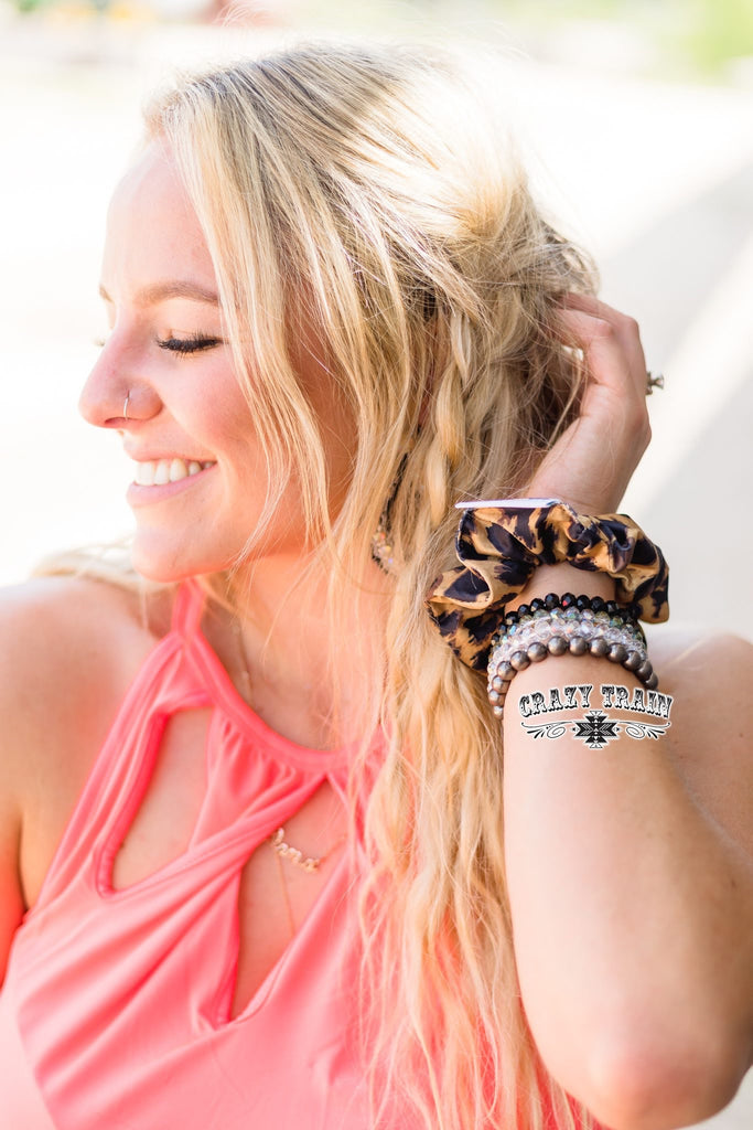 {BRODI} Leopard Scrunchie Hair Tie