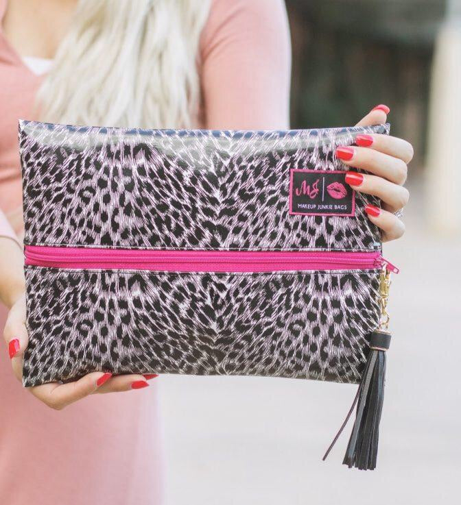 5th Avenue Leopard Make Up Junkie Medium Bag