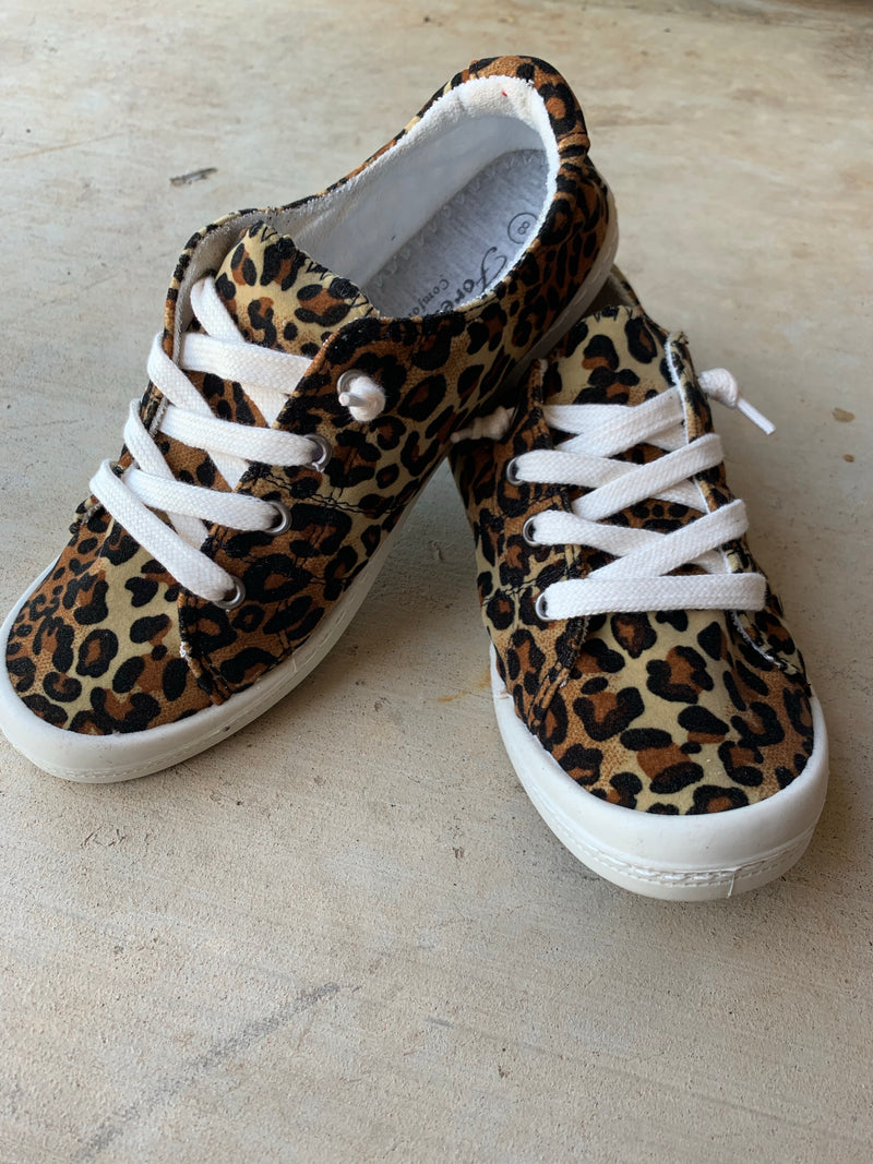 {ON THE CATWALK} Leopard Slip On Sneakers