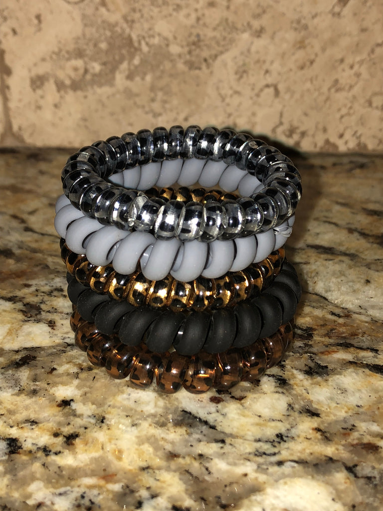 SAFARI Leopard Hair Coil Stack (Set of 5 Coils)