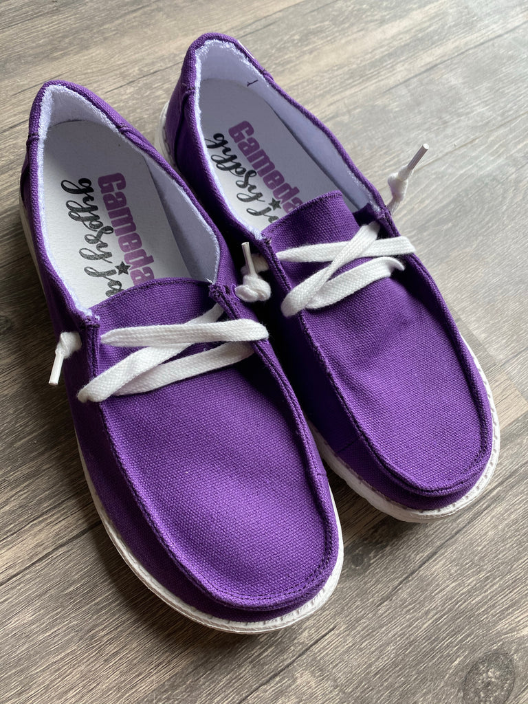 {PURPLE} Gypsy Jazz Holly Slip On Canvas Sneaker