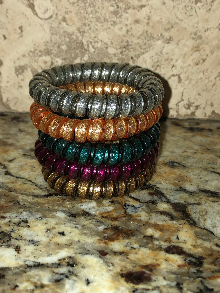 PUMPKIN PATCH Hair Coil Stack (Set of 5 Coils)