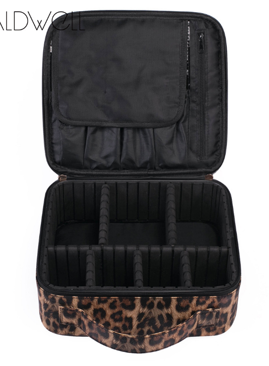 {TOTALLY WILD + ORGANIZED} Leopard Make-Up/Storage Organizer