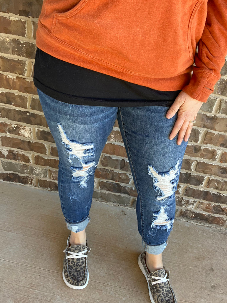 {BRITTANY} Judy Blue Heavy Destroyed Skinny Jeans