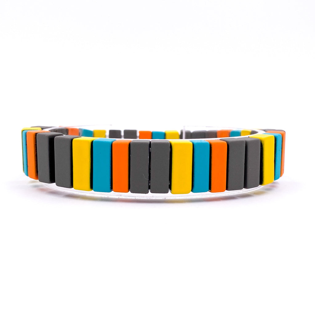 {FIESTA} Bright + Colorful Metal Bracelet Set