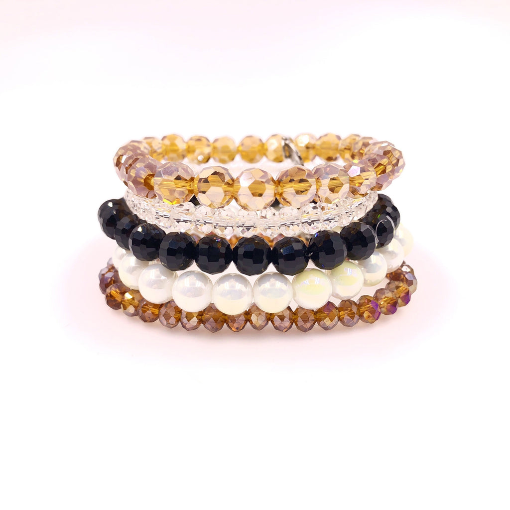 Vintage Cheetah Bracelet Stack {Set of 5 Bracelets}