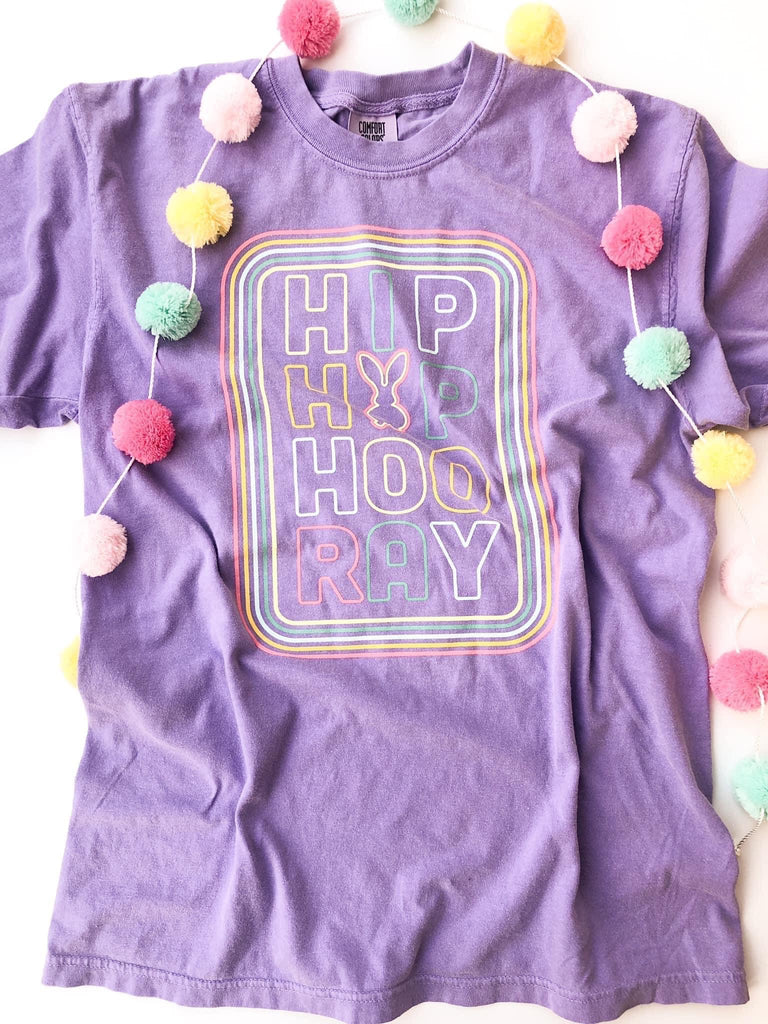 {HIP HOP HOORAY} Lilac Crew Neck Tee
