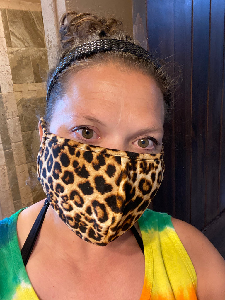 Leopard •ADULT• Cloth Face Mask