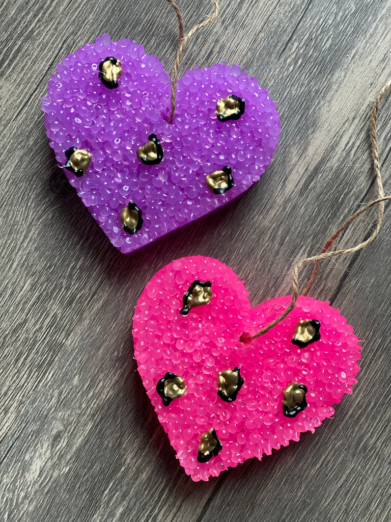 Car Scents Pink + Purple {LEOPARD HEARTS}