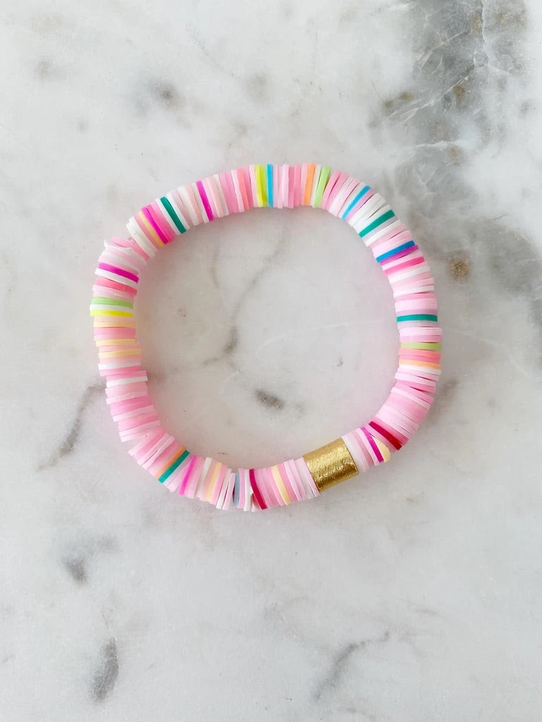 Fruity Pink {COLOR POP} Heishi Beads Bracelet