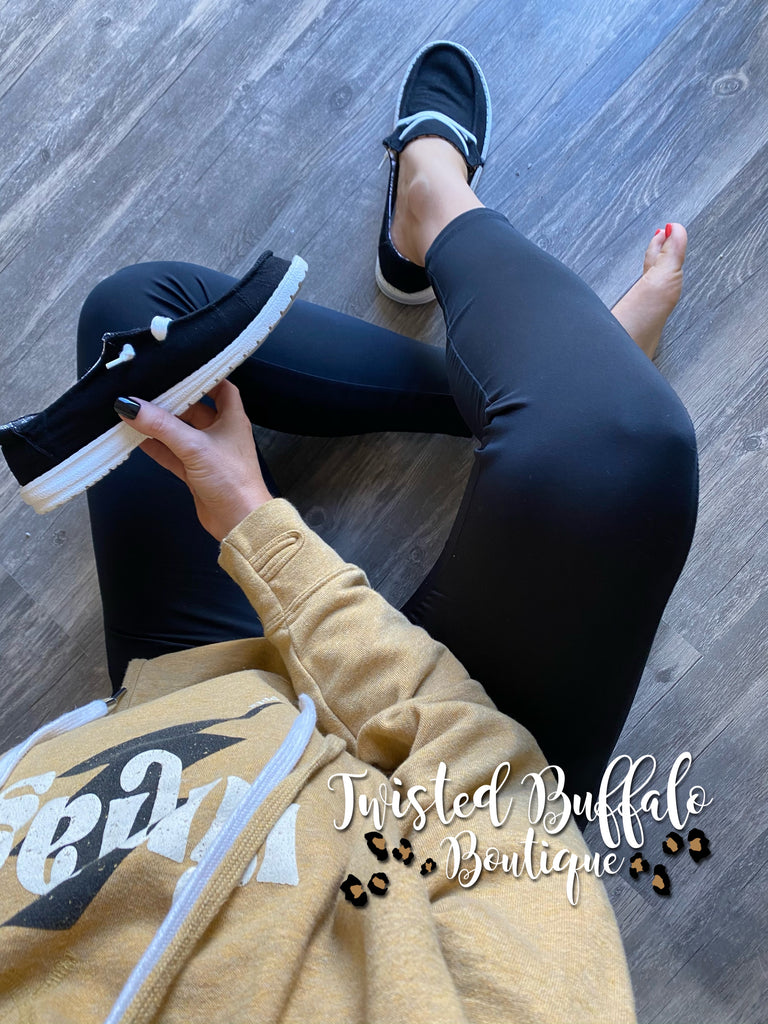 {BETHANY} BLACK Gypsy Jazz Holly Slip On Canvas Sneaker