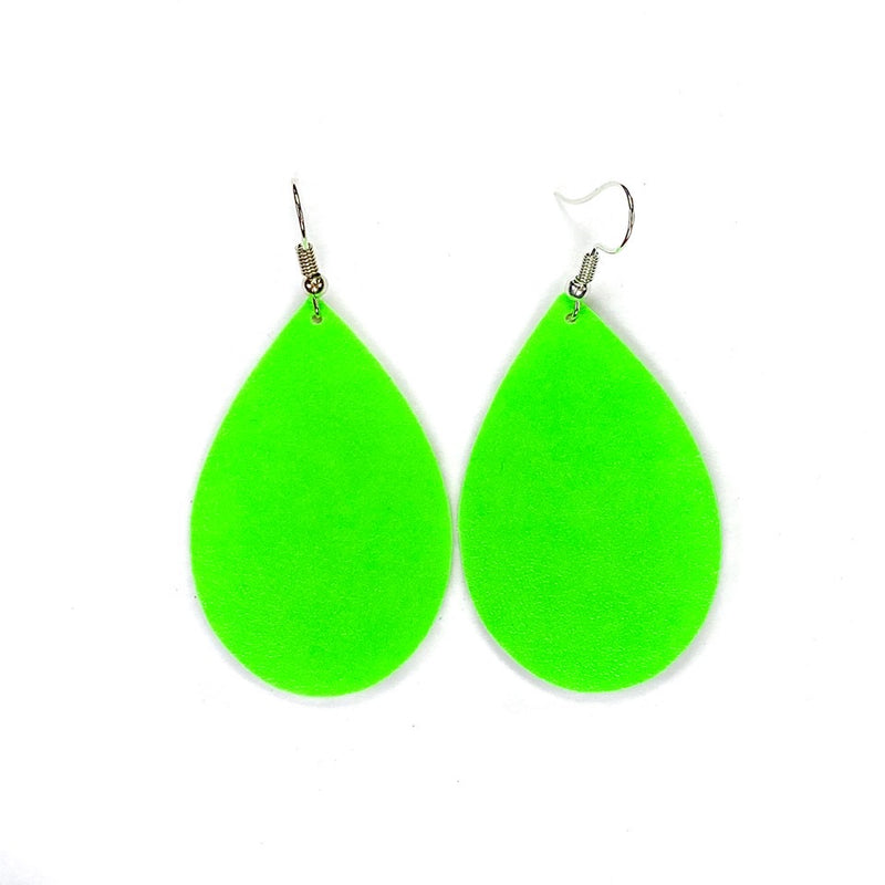 """Outer Space"" Lime Green Chunky Earrings"