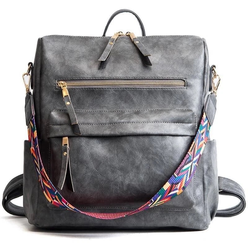 {GRAYLER} Gray Convertible Backpack Purse