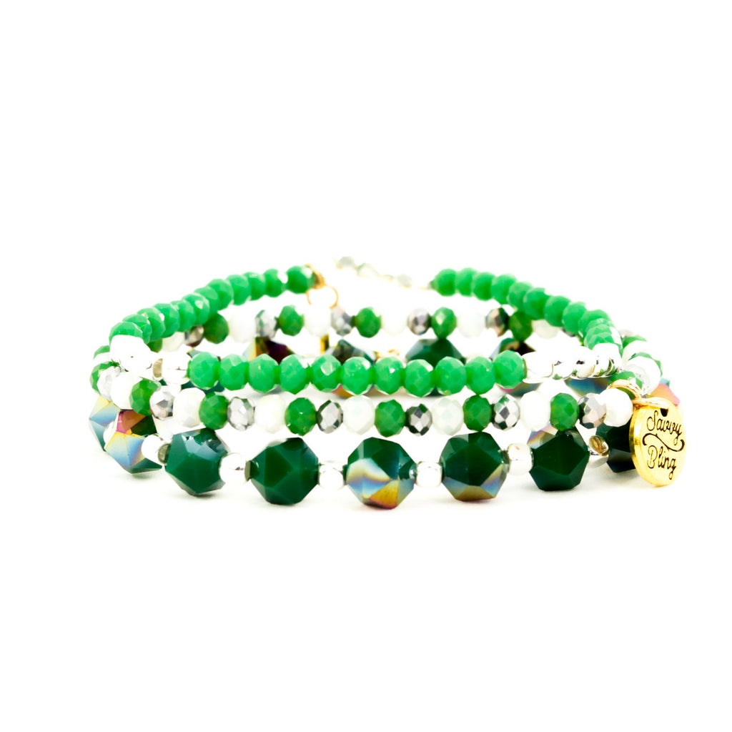 {GREEN MYRIAD} Bracelet Set