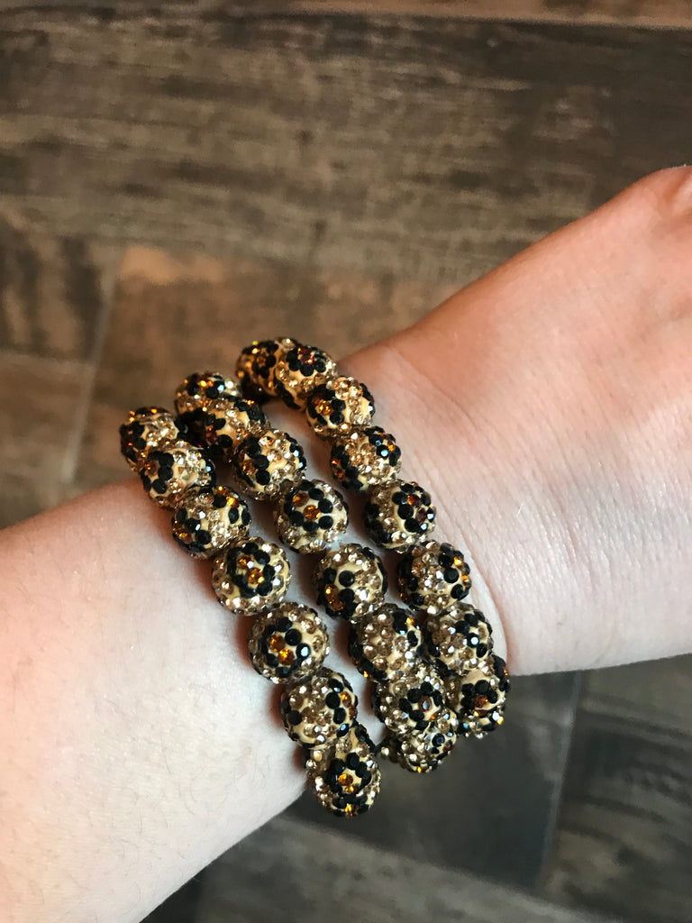 Run Wild • Single {LEOPARD} Stretchy Bracelet