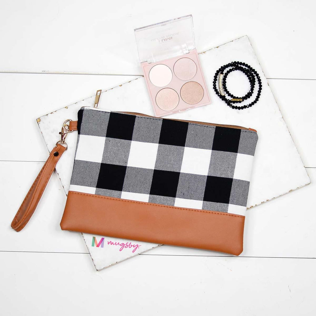 WHITE + BLACK Buffalo Plaid Make Up Bag