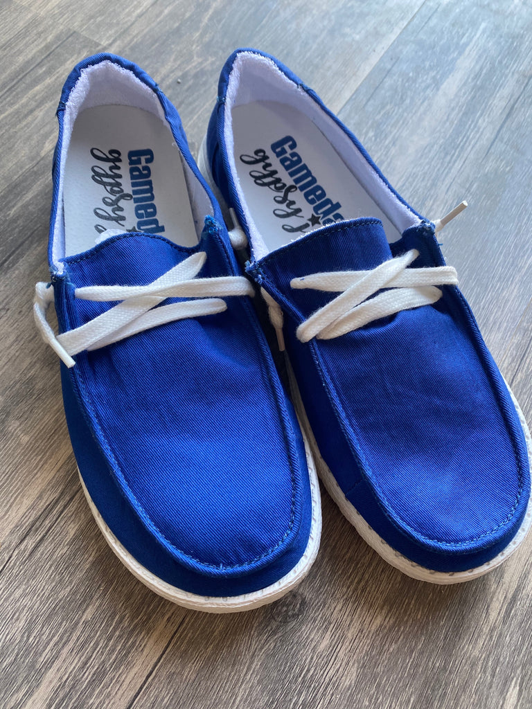 {BLUE} Gypsy Jazz Holly Slip On Canvas Sneaker