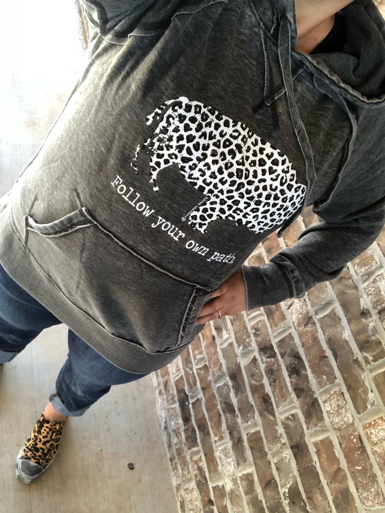 Follow Your Own Path {LEOPARD} Buffalo Hoodie