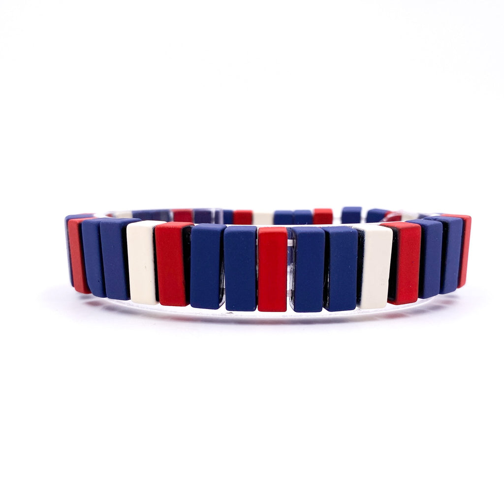 {RUSHMORE} Patriotic Metal Bracelet Set