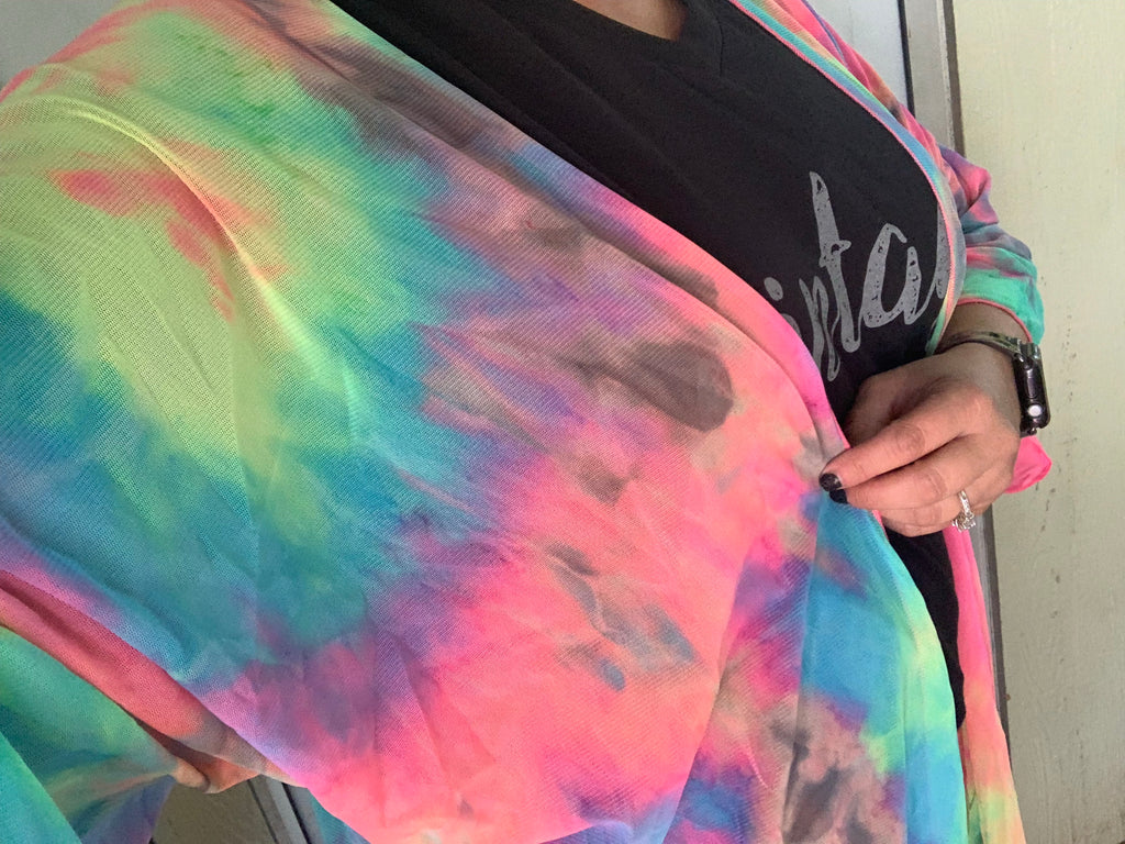 {TIE DYE BONANZA} Colorful Cardigan