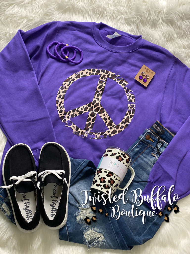 {A PEACE OF PURPLE} Purple Sweatshirt