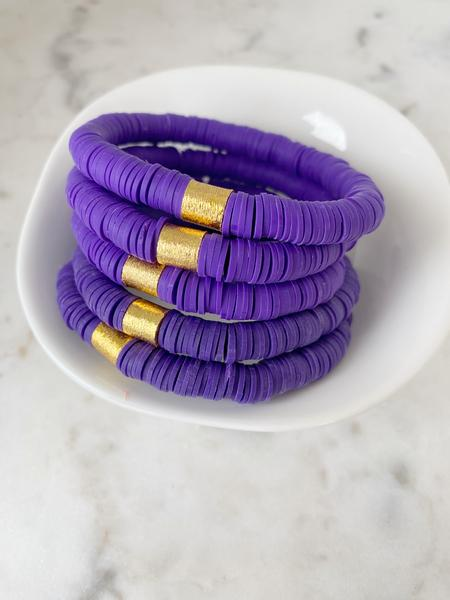 Purple {COLOR POP} Heishi Beads Bracelet
