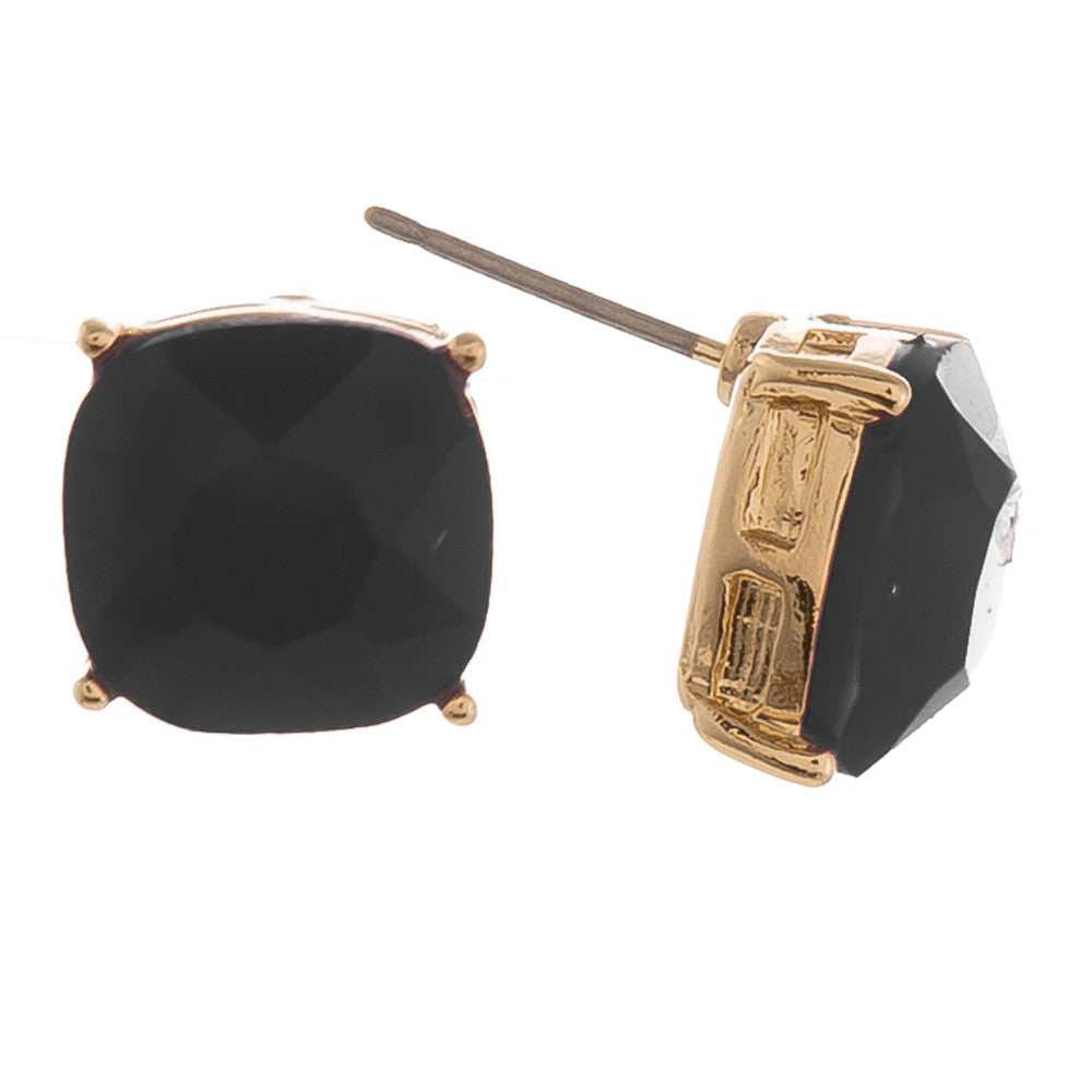 {JETSETTER} Black Stud Earrings