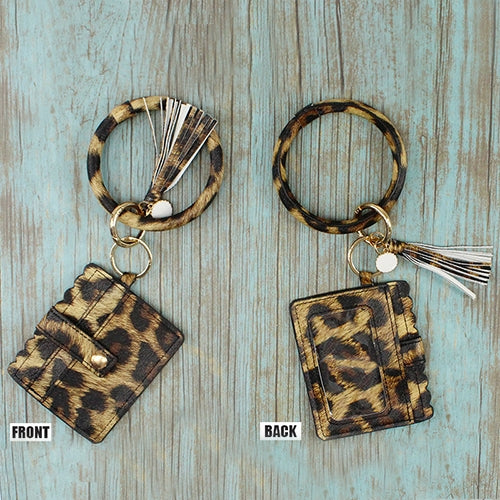 {KASSI} LEOPARD Bangle Keychain With Wallet
