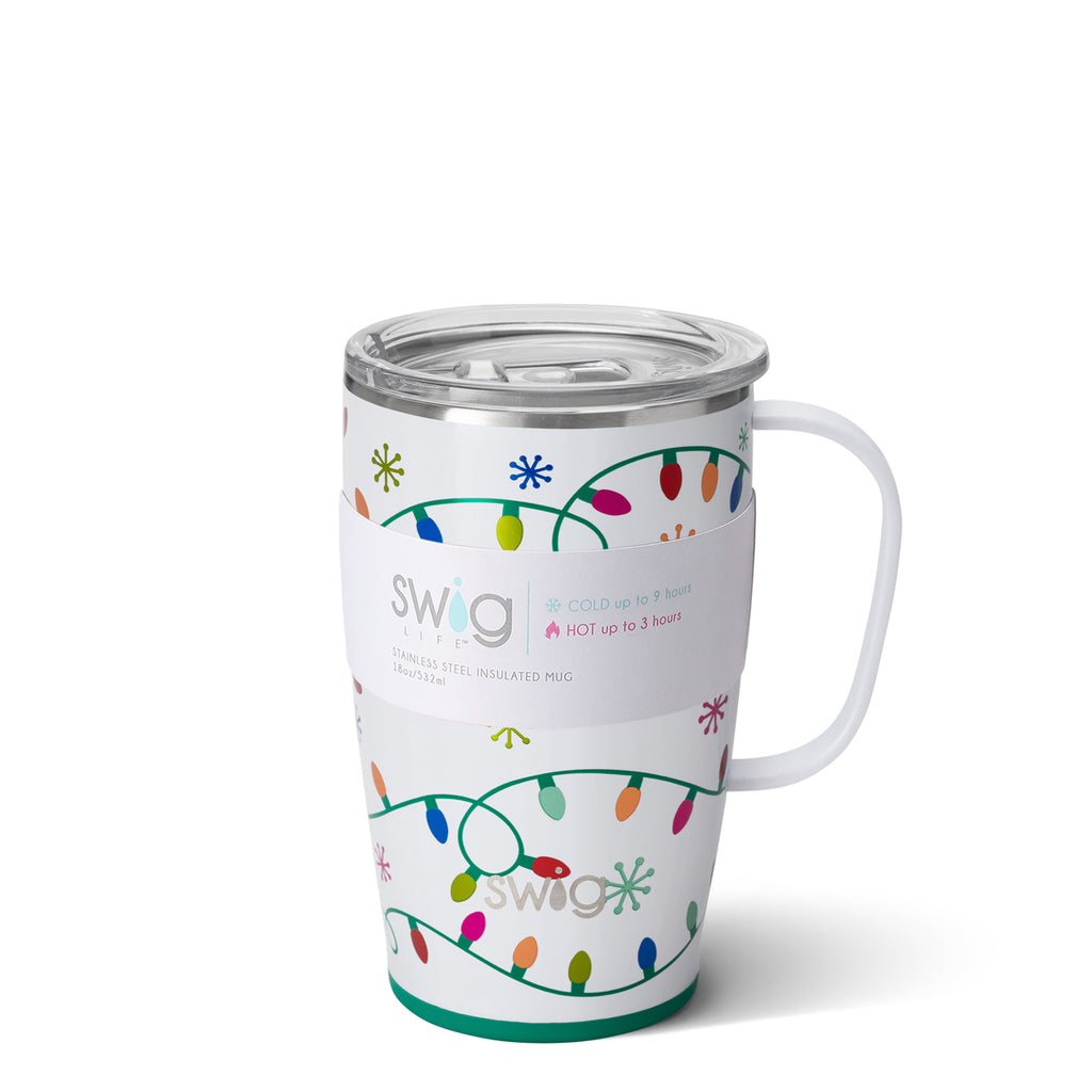 SWIG 18 oz. Mug with Handle {LET IT GLOW} Insulated Stainless Steel Mug