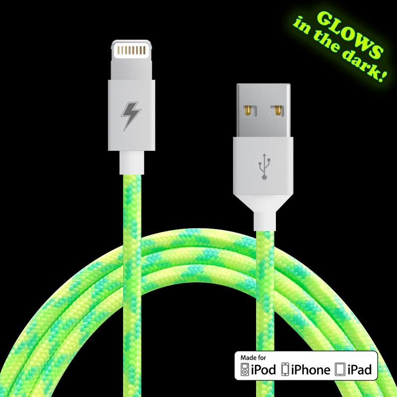 {LIME GLOW} Lightning Cable [5 ft / 1.5m length]