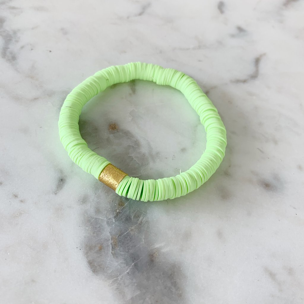 Lime Green {COLOR POP} Heishi Beads Bracelet