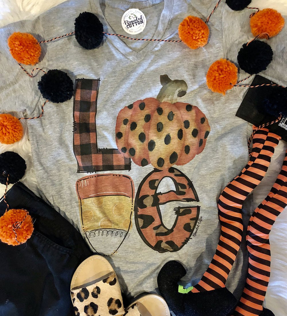 {FOR THE LOVE OF HALLOWEEN} Mix-Up Gray V-Neck Tee