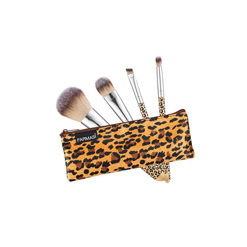 {FARMASI} Leopard Make-Up Brush Set