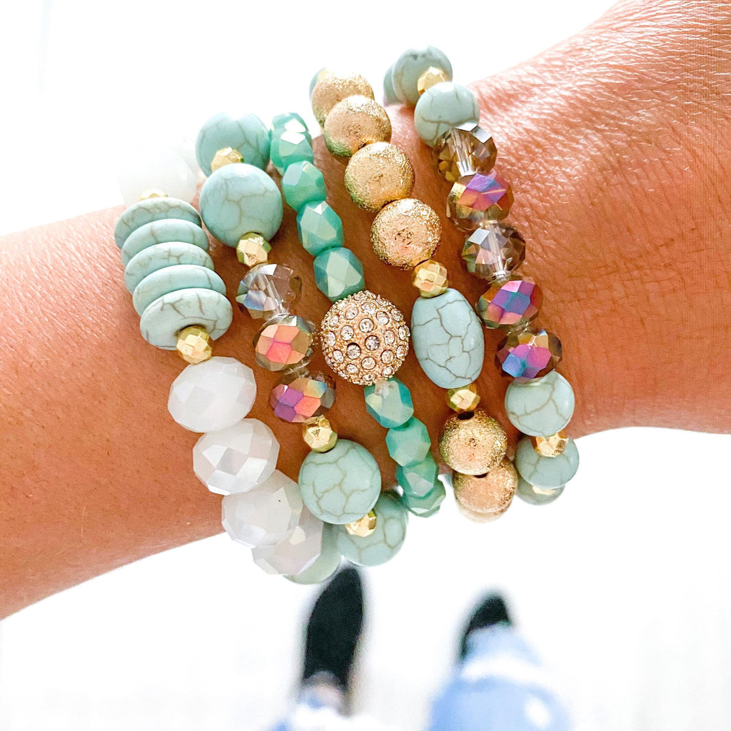 {MINT TURQUOISE} Bracelet Set of 5
