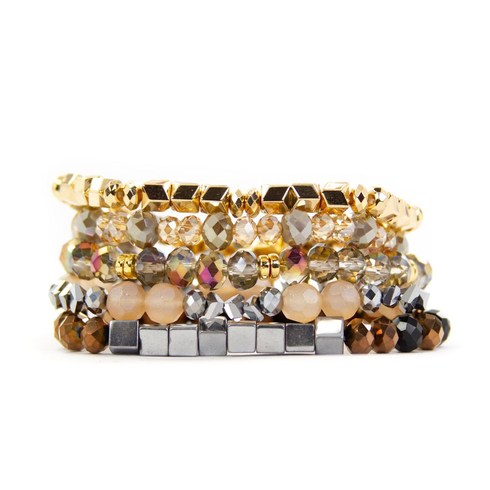 {MIXED METALS} Bracelet Set of 5