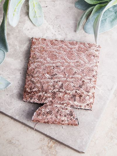 NOPE.  Not Today Rose Gold Sequins Can Cooler