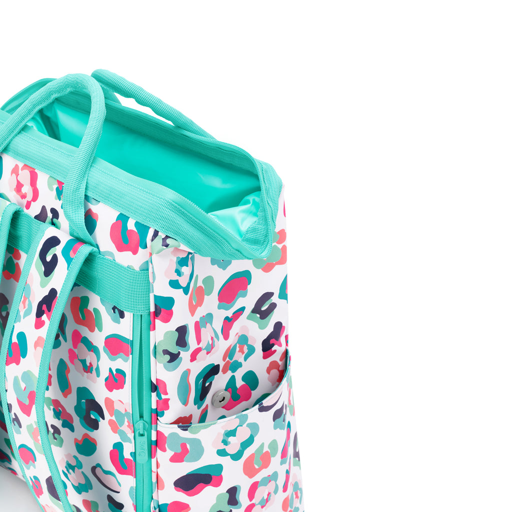 SWIG {PACKI BACKPACK COOLER} Party Animal Colorful Leopard Print