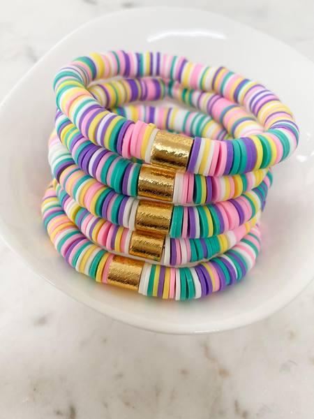 Pastel Rainbow {COLOR POP} Heishi Beads Bracelet