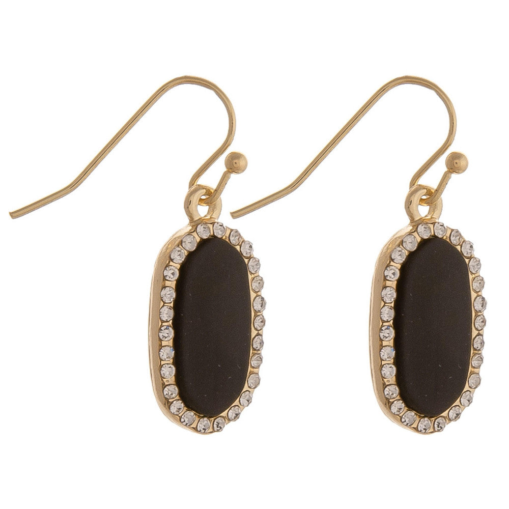 {PIPER} Black + Gold Dainty Metal Drop Earrings