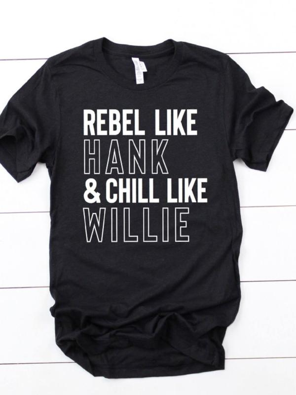 Rebel & Chill Black V-Neck Tee