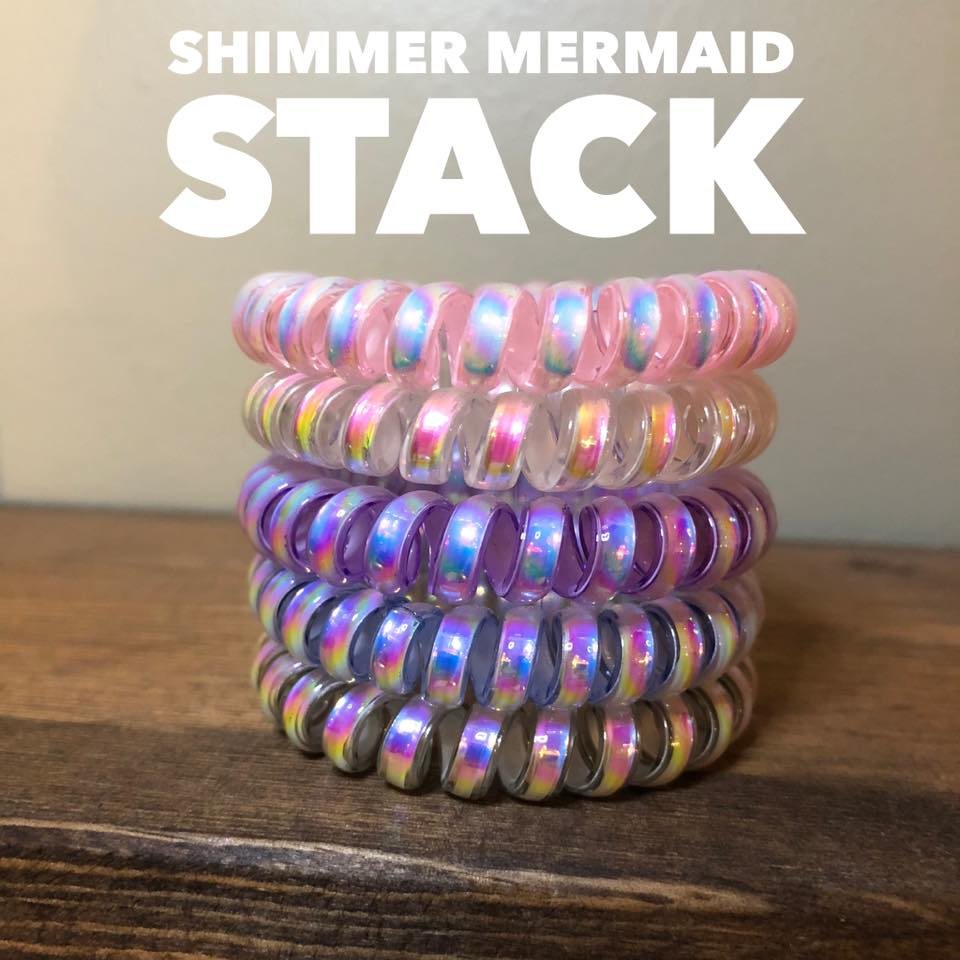 Shimmer Mermaid Hair Coil Stack {Set of 5}