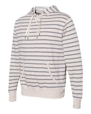 {SHOOP} Oatmeal Salt + Pepper Stripe SUPER SOFT Hoodie