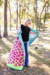 {STORMY BRIGHTS} Bright Leopard Thunderbolt Comfy Blanket