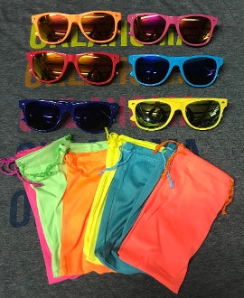 Colorful Wayfarer Sunglasses & Pouch {6 COLORS}