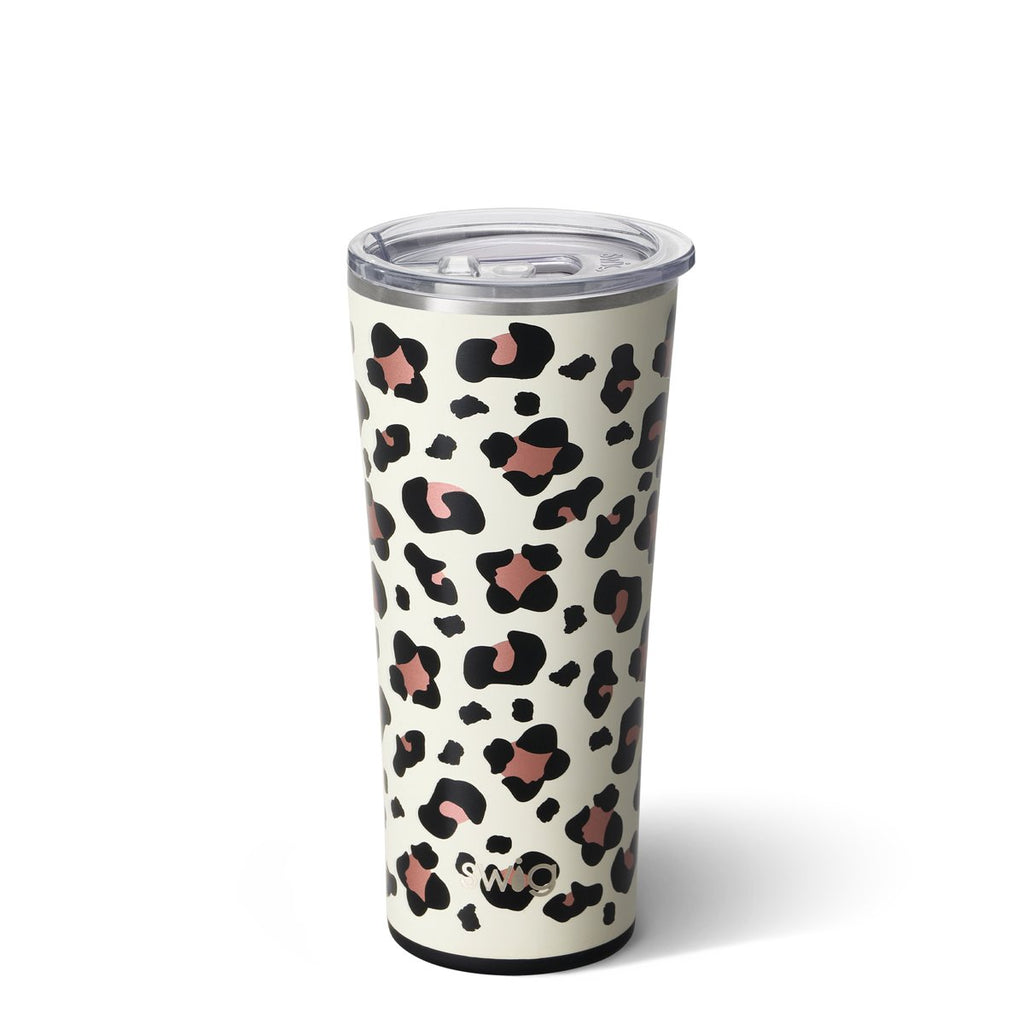SWIG 22oz. Tumbler {LUXY LEOPARD} Stainless Steel Cup + Lid