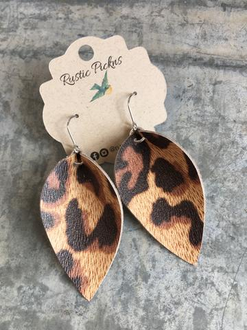 """Zoe"" Urban Leopard ""Jo"" Petal Earrings"