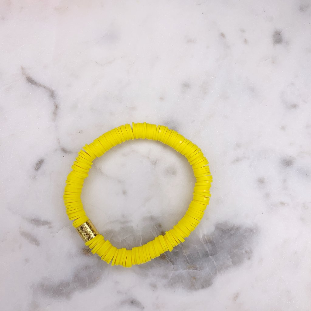 Yellow {COLOR POP} Heishi Beads Bracelet