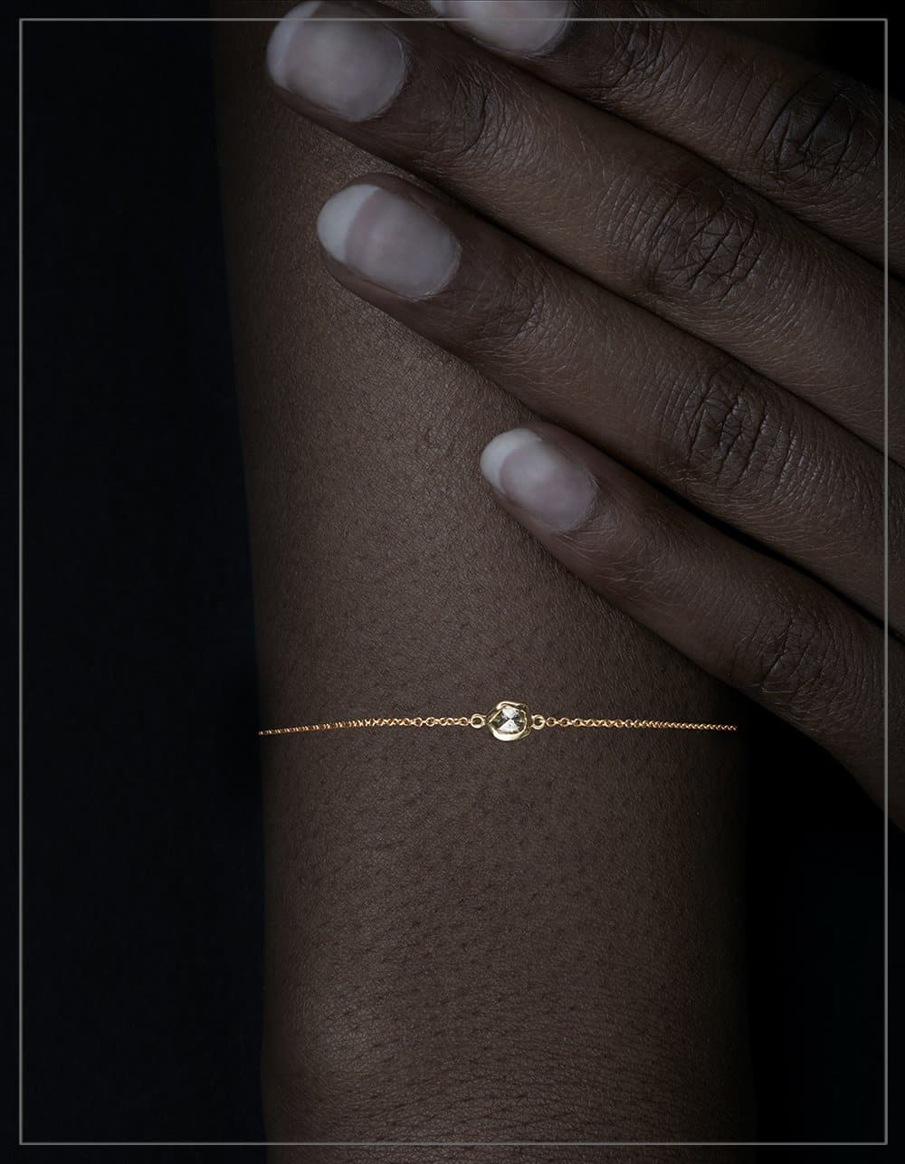 Feminine Gold Chain Bracelet – <strong>0.31 ct.</strong>