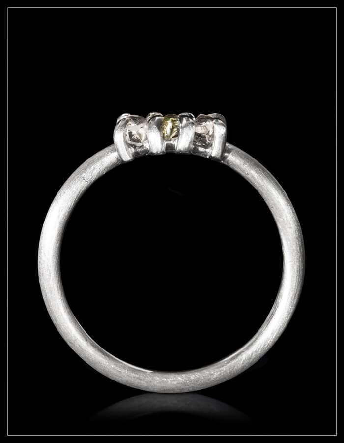 Copenhagen July Rough Diamond White Gold Ring - <strong>0.42 ct.</strong>