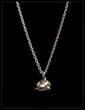 Petite White Diamond White Gold Necklace - <strong>0.49 ct.</strong>